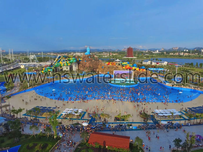Kela Bay water park in Yulin city, Guangxi province